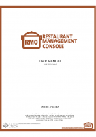 RESTAURANT MANAGEMENT CONSOLE USER GUIDE